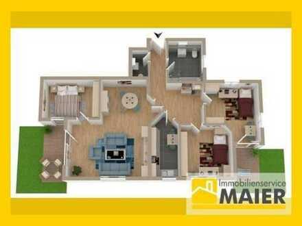 Moderne & helle Terrassenwohnung! 4 Zimmer mit Garten, zwei Terrassen, Garage und Doppelhausflair!