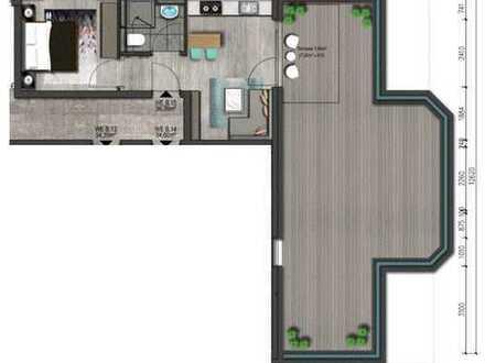 Ohne Provision 2 Zimmer Wohnung Frankfurt Nied Neubau Erstbezug mit große Terrasse