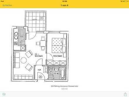 Gepflegte 2-Zimmer-Wohnung mit Balkon und Einbauküche in Ludwigsburg (Ossweil)