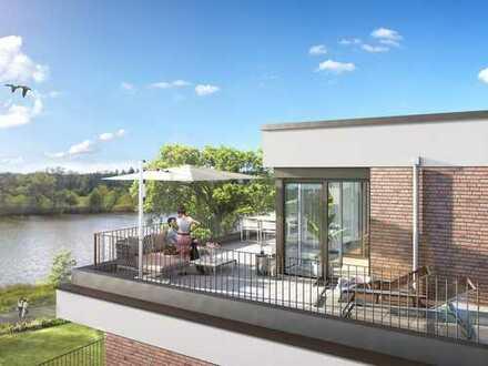 Viel Platz und Wohngenuss am Main! 3-Zimmer-Eigentumswohnung mit Dachterrasse, Loggia und 2 Bädern