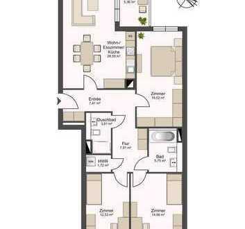Bild_Neubau Erstbezug! Wohnen mit Familie in 4 Zimmern mit Balkon und Fußbodenheizung