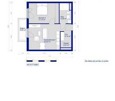 Bild_Gemütliche Wohnung für Zwei. WBS erforderlich!