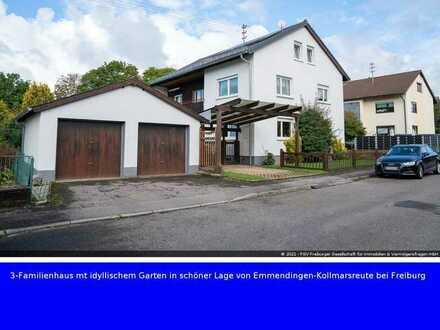 3-Familienhaus mit idyllischem Garten in schöner Lage von Emmendingen-Kollmarsreute bei Freiburg