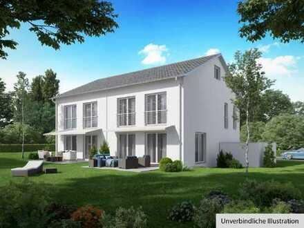 projektierte Doppelhäuser in Unterheinriet