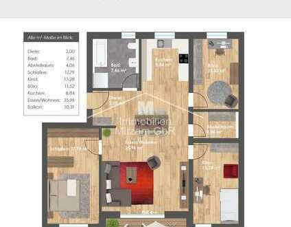 Wohncarré PARSBERG: Neubau 4-Zimmer-Obergeschoss-Wohnung barrierefrei mit Aufzug u. Tiefgarage