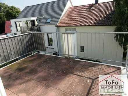 ToFa: außergewöhliches Büro mit viel Platz auf dem Balkon und Blick ins Grüne