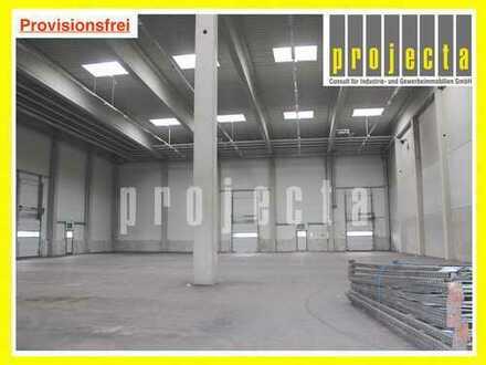 PROVISIONSFREI: ca. 1.260 m² Lagerhalle * 5x Rampen + 2x eben. Tore * zwischen BAB 5 und BAB 661 *