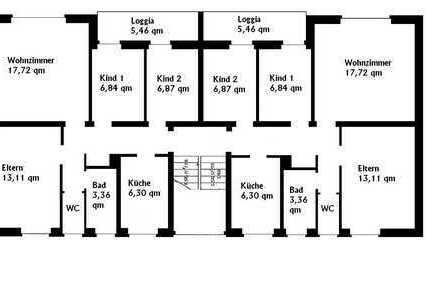 renovierungsbedürftige 3,5- Zimmer- Wohnung /Materialkosten werden übernommen!
