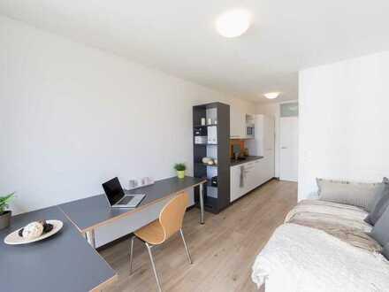 Nachmiete - Vollmöbliertes Apartment in Uni-Nähe mit EBK, Aufzug, Waschraum und vielem mehr