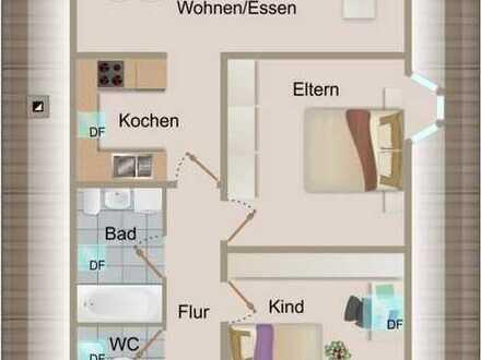 3 Zimmer-Dachgeschosswohnung mit Carport und Garten in zentraler Lage von Knittelsheim