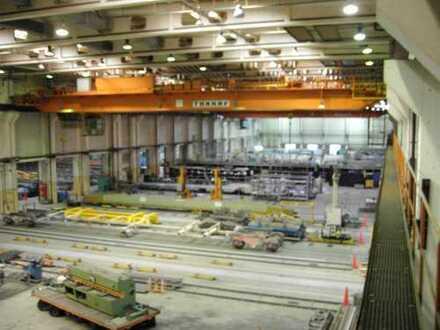 Produktionshalle mit Brückenkran!