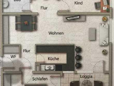 Neuwertige Hochparterre-Wohnung mit dreieinhalb Zimmern sowie Balkon und Einbauküche in Göppingen