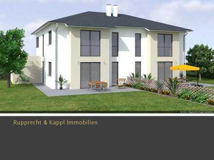 Moderne Neubau-Doppelhaushälfte im KFW55 Standard mit Garten und Terrasse in Amberg/Poppenricht