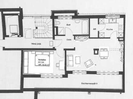Penthouse-2-Zi-Wohnung mit Dachterrasse und EBK in Großreuth