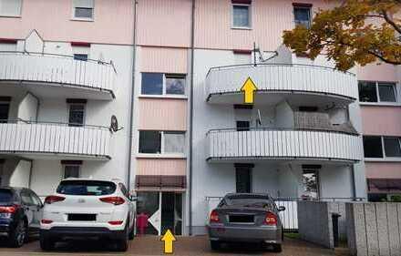 Schön geschnittene 2 Zi-Whg + 2 Balkone + EBK + TG