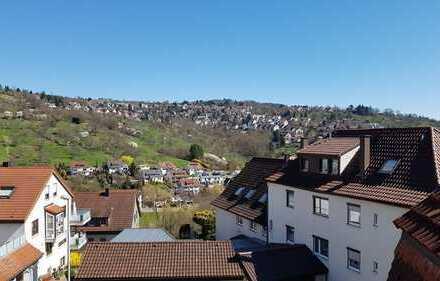 Schöne, geräumige zwei Zimmer Wohnung mit unverbaubarer Aussicht nach Wiflingshausen in Esslingen