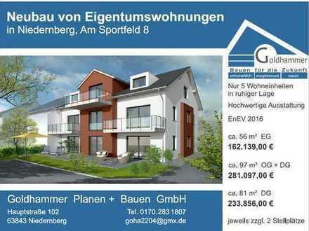 Erstbezug mit Balkon: Schöne 4-Zimmer-DG-Wohnung in Niedernberg