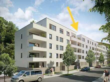 Stilvolle, geräumige 1,5-Zimmer-Dachgeschosswohnung mit Balkon und Einbauküche in Baden-Baden