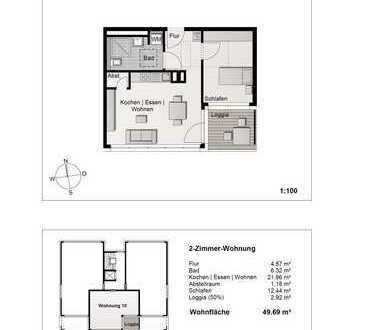 Hochwertige 2- Zimmerwohnung im 2. Obergeschoss (Wohnung 10)