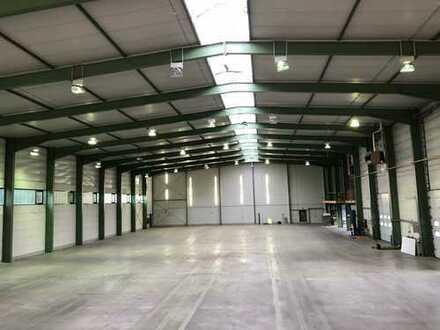 Gut ausgestatt. Lagerhalle 1. 000 m², teilbar, mit Büroeinbau, direkt an A6, ab sofort zu vermieten!