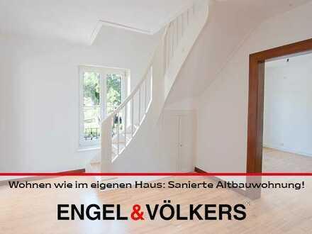 Wohnen wie im eigenen Haus: Sanierte Altbauwohnung in zentraler Lage!