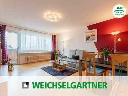 Gut geschnittene Eigentumswohnung mit  West-Loggia