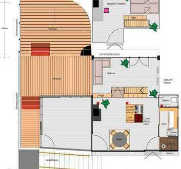 Moderne, offene 3-Zimmer-Maisonette-Wohnung in Grafenau, Toplage, Landhaussiedlung, 86m