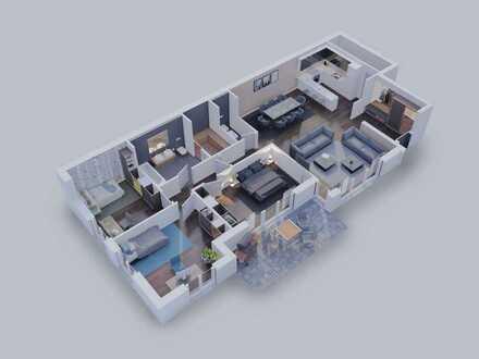 Komfortable 4-Zimmer Wohnung mit großem Balkon