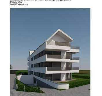 2 Zimmer Neubauwohnung mit herausragender Ausstattung in zentraler Wohnlage von Zwingenberg