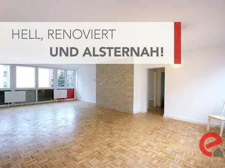 BEZAHLBARES WOHNEN AN DER AUSSENALSTER: LOFTARTIGE 81 M² 2-ZIMMER-WOHNUNG IN ST.GEORG