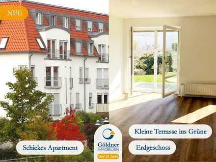 Helles Apartment mit kleiner Terrasse ins Grüne in guter Lage zu vermieten!