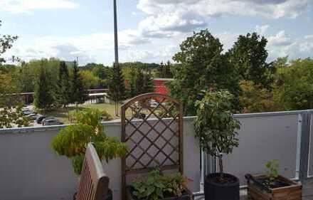 Traumwohnung im Grünen - Dachgeschosswohnung mit Süd-West-Terrasse -