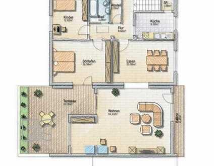 4,5 Zimmer DG-Wohnung mit uneinsehbarer Dachterrasse mit Blick auf den Mühlbach