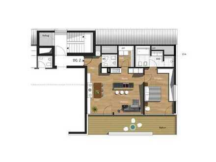 2,5-Zimmer-Penthouse mit TG & Außenstellplatz