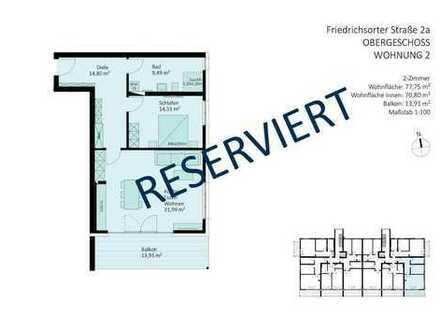 RESERVIERT - komfortable, barrierefreie 2-Zimmer-Wohnung in der Beletage