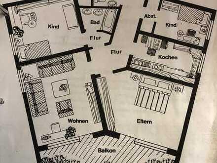 Gepflegte 4-Raum-Wohnung mit Balkon und Einbauküche in Schweinfurt