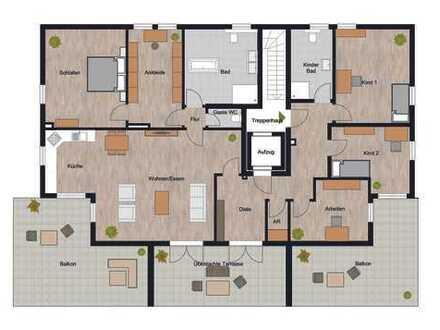 Einzigartig und Exklusiv! 5,5 Zimmer Wohnung mit drei riesigen und sonnigen Terrassen!!!