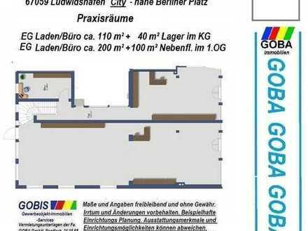 Lu Büro-Praxisräume/Laden ca. 200 m² erweiterbar moderne Ausstattung nahe Berliner Platz