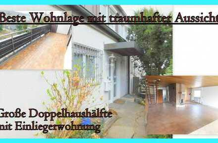 *Großzügige Doppelhaushälfte mit Einliegerwohnung in Bestlage mit herrlicher Aussicht***