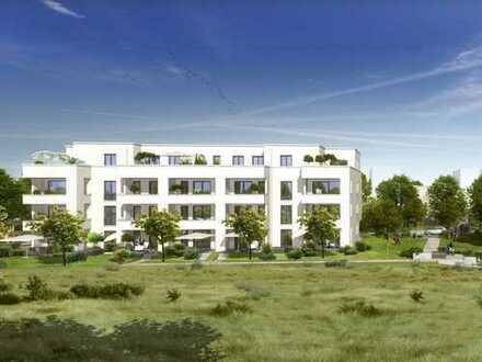 Offen und hell: 3-Zimmer-Penthouse-Wohnung mit 2 Dachterrassen und 2 Bädern in Wohlfühlumgebung