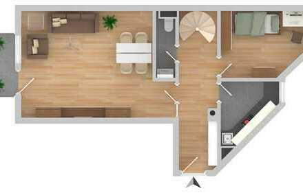 Schöne 3,5-Zimmer Maisonette-Wohnung in Erding-Klettham