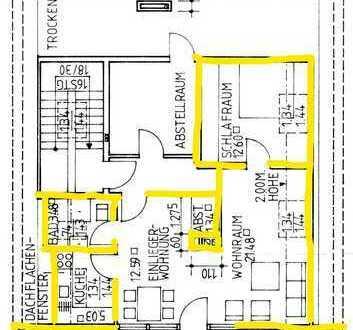 Sanierte 2-Zimmer-DG-Wohnung mit Balkon und Einbauküche in Ahaus