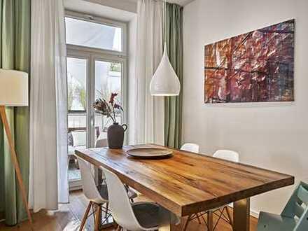 DESIGN-HIGHLIGHT IN SCHWABING: Edel ausgestattete 3-Zimmer-Wohnung im Jahrhundertwende-Altbau