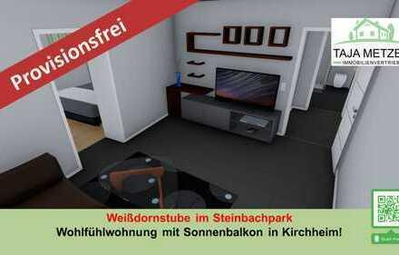 Ihre Weißdornstube im Steinbachpark Wohlfühlwohnung mit Sonnenbalkon und Carport in Kirchheim
