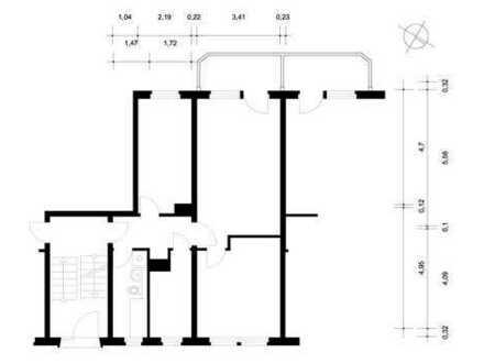 Angenehme 3-Raum-Wohnung in Stadtilm zu vermieten