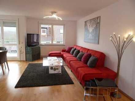 Sonnige 3 Zimmer-Terrassen-Wohnung am Lederberg, voll möbl. und bestens ausgestattet, ab sofort frei