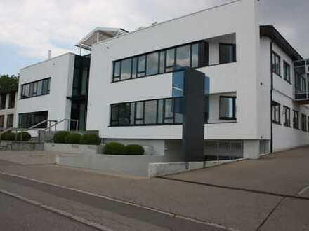 Hier in Ulm-Jungingen - moderne Bürofläche - mit Gartenoase