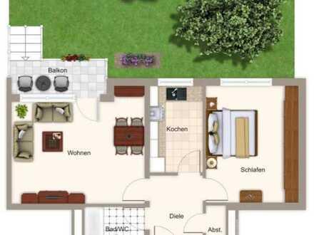 Sommer im eigenen Garten - 2 Zi-Wohnung mit Balkon und 55 qm Garten (600 m zur S-Bahn Harthaus)