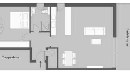 Chice 2-Zimmer Dachgeschosswohnung mit Spessartblick