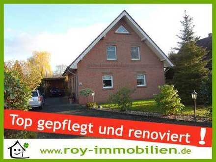 +++ Top gepflegt, renoviert, großer Garten in Süd-Lage, Wohnmobil-Carport ! +++